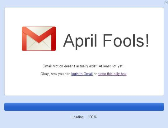 April Fools!